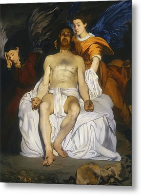 Metal Print featuring the painting The Dead Christ With Angels by Edouard Manet