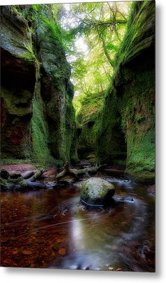 The Devil Pulpit At Finnich Glen Metal Print