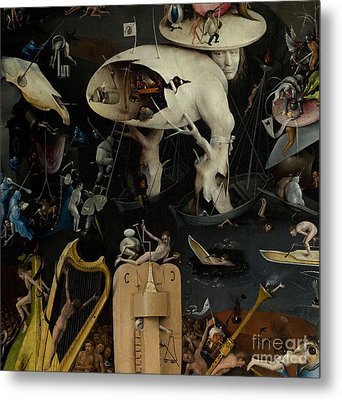 The Garden Of Earthly Delights Metal Print by Hieronymus Bosch
