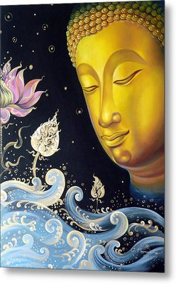 The Light Of Buddhism Metal Print