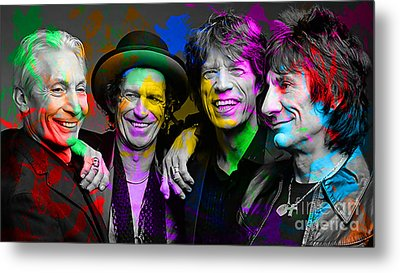 The Rolling Stones Metal Print by Marvin Blaine
