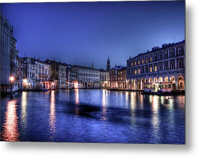 Venice By Night Metal Print by Andrea Barbieri