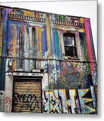 Williamsburg Graffiti Metal Print