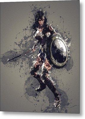 Wonder Woman Metal Print by Elena Kosvincheva
