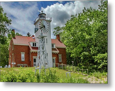 Metal Print featuring the photograph 40 Mile Point Lighthouse by Bill Gallagher