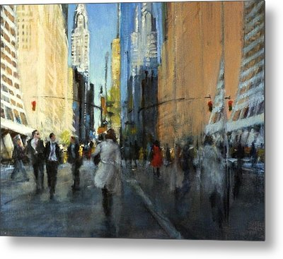 42nd Street Reflections Metal Print