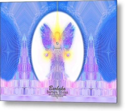 Metal Print featuring the digital art 444 Angel Crystals by Barbara Tristan