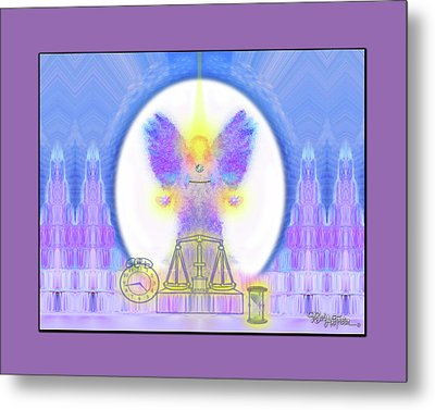 Metal Print featuring the digital art 444 Justice #197 by Barbara Tristan