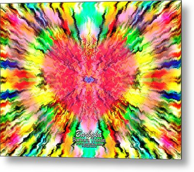 Metal Print featuring the mixed media 444 Loves Vibration by Barbara Tristan