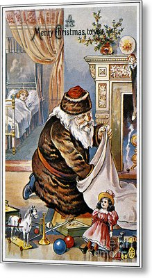 American Christmas Card Metal Print by Granger