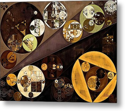 Abstract Painting - Zinnwaldite Brown Metal Print by Vitaliy Gladkiy