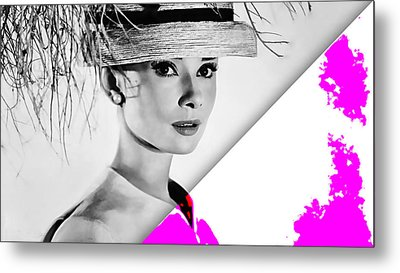 Audrey Hepburn Collection Metal Print by Marvin Blaine