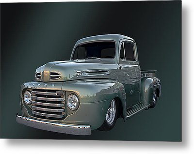 49 Ford Pick Up Metal Print by Jim  Hatch