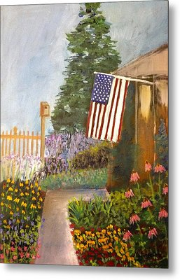 4th Of July Garden Metal Print by Marita McVeigh