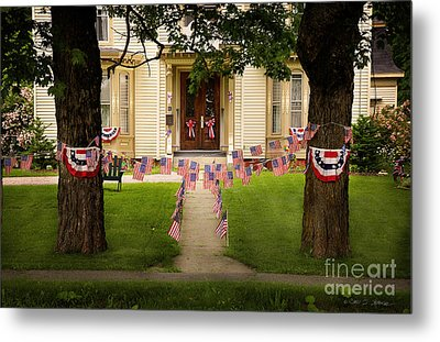 Metal Print featuring the photograph 4th Of July Home by Craig J Satterlee