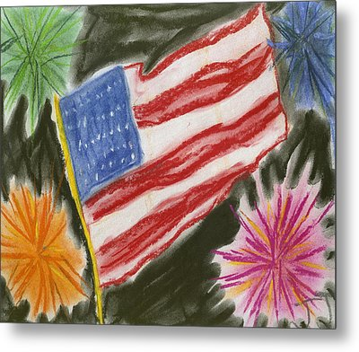 4th Of July Metal Print by Jessika and Art with a Heart In Healthcare