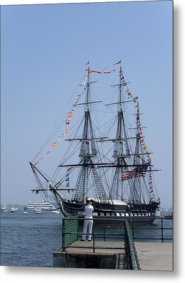 4th Of July Turnaround Uss Constitution Castle Island South Boston Ma Metal Print