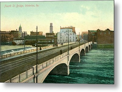 4th Street Bridge Waterloo Iowa Metal Print by Greg Joens