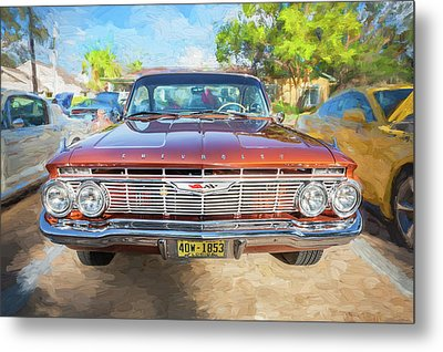 Metal Print featuring the photograph 1961 Chevrolet Impala Ss  by Rich Franco