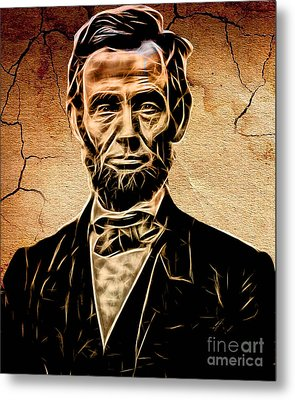Abraham Lincoln Collection Metal Print by Marvin Blaine