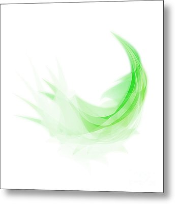 Metal Print featuring the painting Abstract Feather by Setsiri Silapasuwanchai