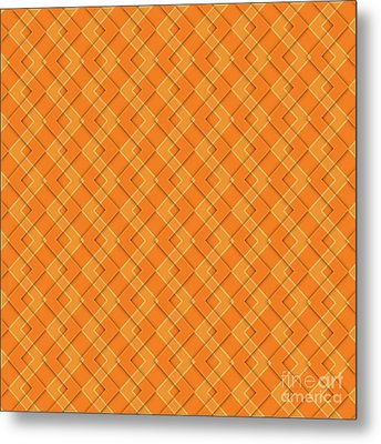 Abstract Orange, White And Red Pattern For Home Decoration Metal Print by Pablo Franchi