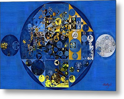 Abstract Painting - Oxford Blue Metal Print