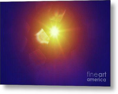 Metal Print featuring the photograph Abstract Sunlight by Atiketta Sangasaeng