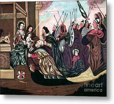 Adoration Of The Magi Metal Print by Granger