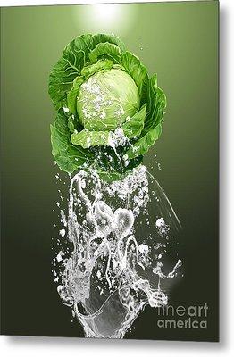 Cabbage Splash Metal Print