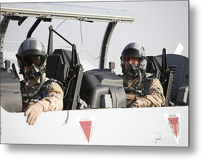 Camp Speicher, Iraq - U.s. Air Force Metal Print by Terry Moore