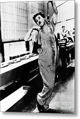 Chaplin: Modern Times, 1936 Metal Print by Granger