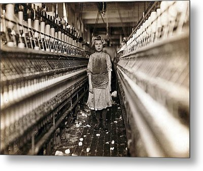 Child Laborer Portrayed By Lewis Hine Metal Print by Everett