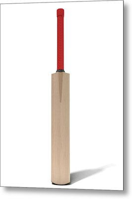 Cricket Bat Metal Print by Allan Swart