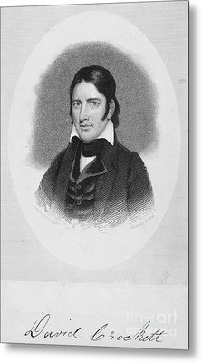 Davy Crockett (1786-1836) Metal Print by Granger