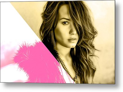 Demi Lovato Collection Metal Print by Marvin Blaine