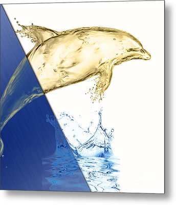 Dolphin Collection Metal Print