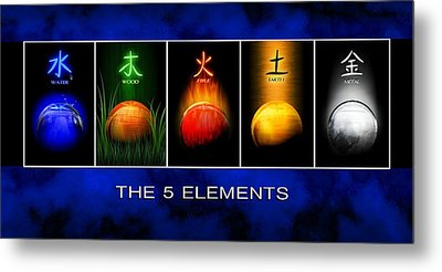 Asian Art 5 Elements Of Tcm Metal Print by John Wills
