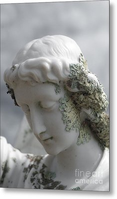 Metal Print featuring the sculpture Grieving Angel by Yurix Sardinelly