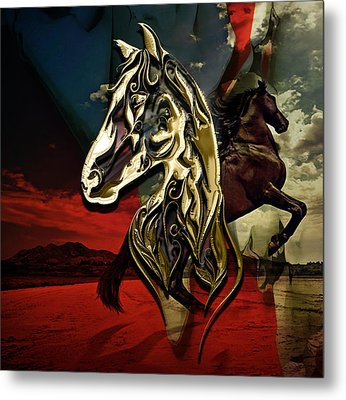 Horse Art Collection Metal Print by Marvin Blaine