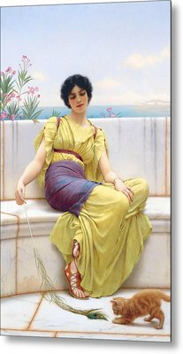 Idleness Metal Print by John William Godward