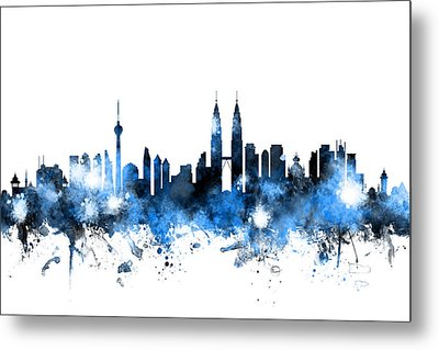 Kuala Lumpur Malaysia Skyline Metal Print by Michael Tompsett