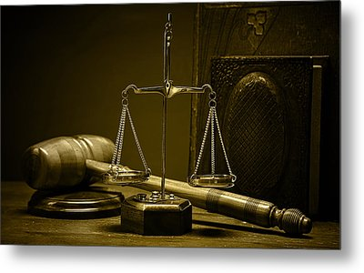 Law Office And Judge Collection Metal Print