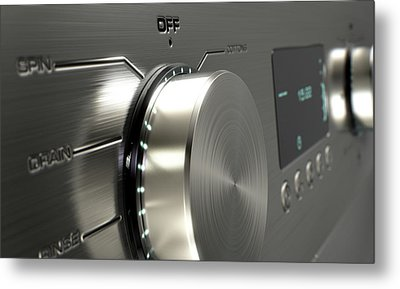 Modern Washing Machine Closeups Metal Print