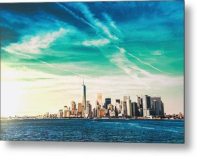 New York City Skyline Metal Print by Vivienne Gucwa
