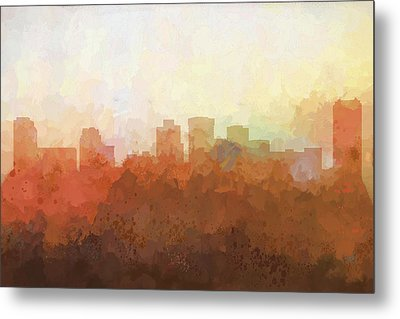 Metal Print featuring the digital art Norfolk Virginia Skyline by Marlene Watson