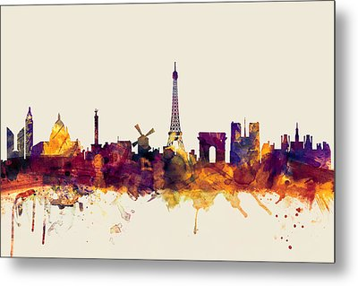 Paris France Skyline Metal Print by Michael Tompsett