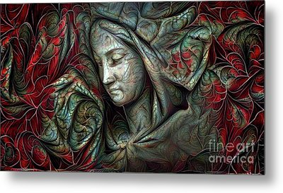 Peaceful Madonna Metal Print