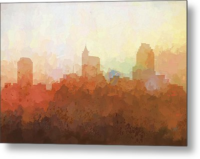 Metal Print featuring the digital art Raleigh North Carolina Skyline by Marlene Watson