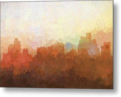 Metal Print featuring the digital art Reno Nevada Skyline by Marlene Watson
